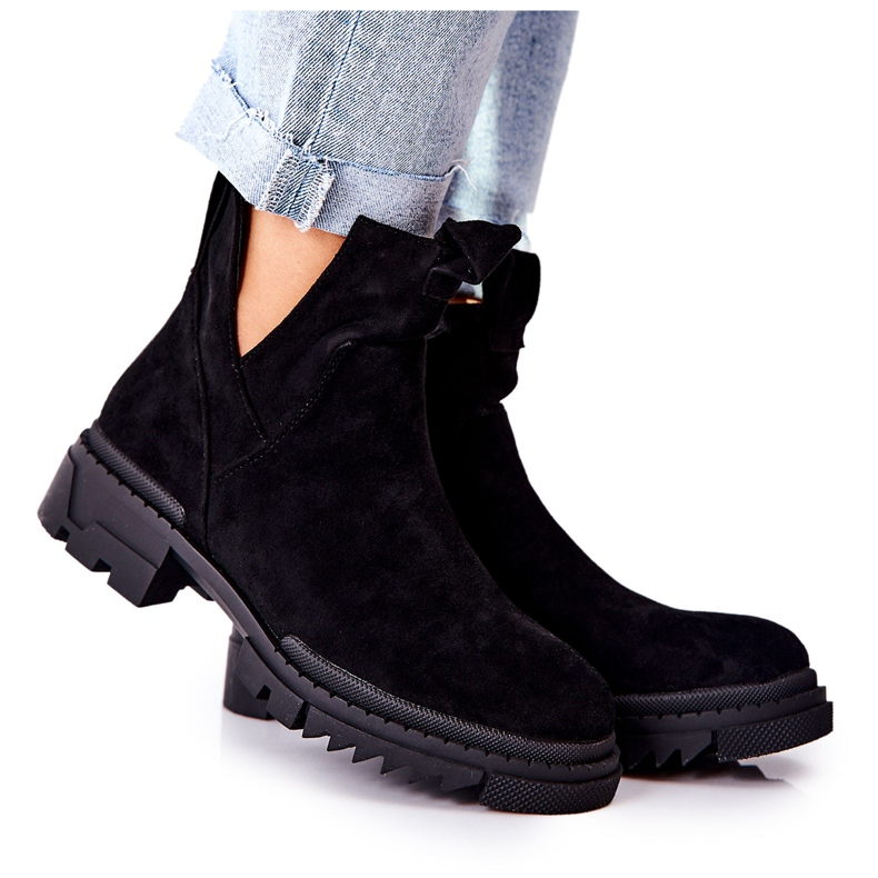 POTOCKI Black Corano Boots With A Cut Out Zip
