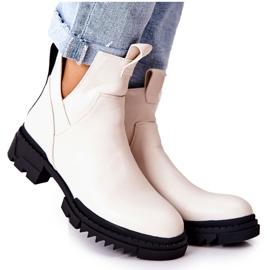 POTOCKI White Corano Boots With A Zip Cut