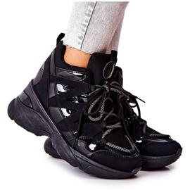POTOCKI Sport Black Hesane Wedge Shoes