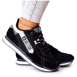 Leather sports shoes Big Star II274271 Black white