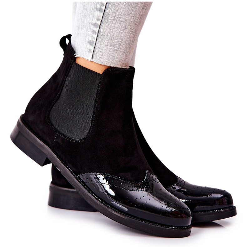 Leather Slip-On Boots Laura Messi Black 2096