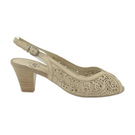 Caprice sandals women's openwork shoes 29606 brown