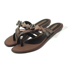 Ipanema brown Flip flops women's shoes with Grendha stones