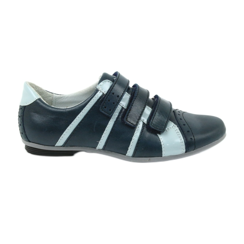 Children's leather shoes Mido sports shoes navy blue grey