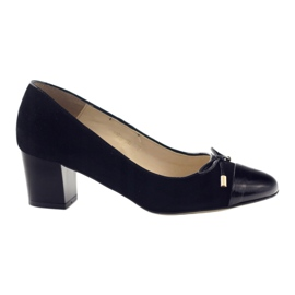 Pumps with a bow Sagan 2275 women's shoes black