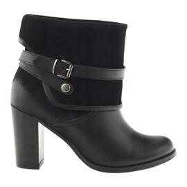 Black classic women's shoes winter boots Edeo 1754