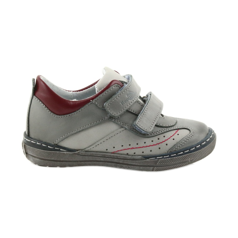 Gray shoes children's boots with velcro Ren But 3047 red multicolored grey