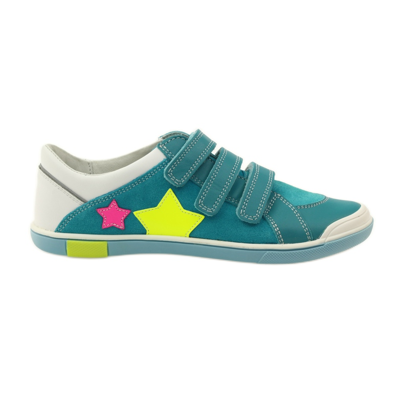 Girls' shoes for Velcro Bartek pink yellow blue white