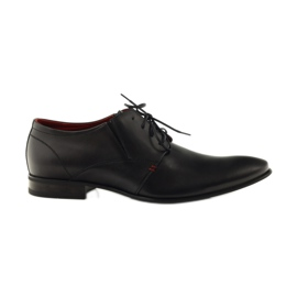 Black classic men's shoes Pilpol 1623