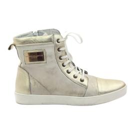 Gold Nikopol 522 leather sneakers