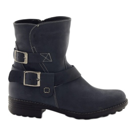 Female winter boots Gregors 544 navy blue