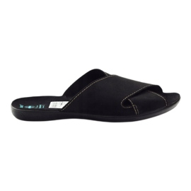 Men's slippers Adanex 20310 black