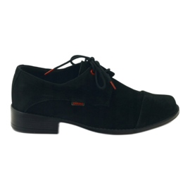 Zarro Black shoes communion suede leather red