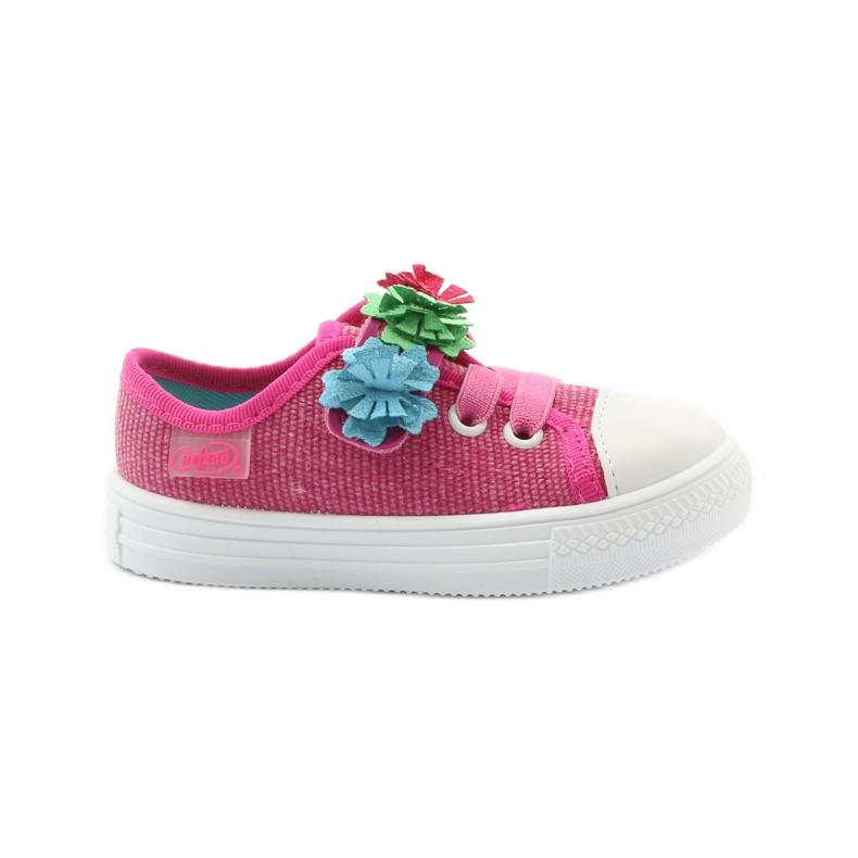 Slippers sneakers Befado flowers pink