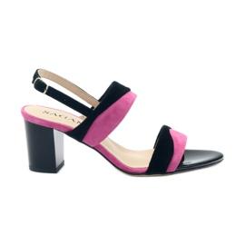 Sandals for women Sagan 2687 black fuchsia