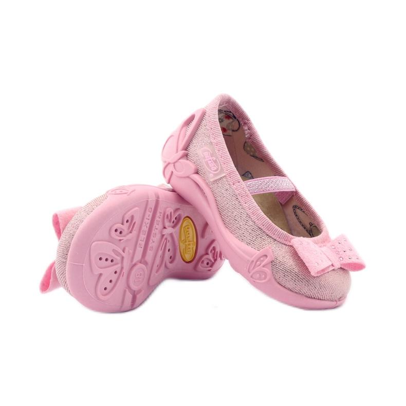 Girls' slippers Befado 441p006 bow pink