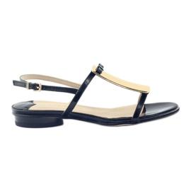 Women's sandals gold decoration Sagan 2698