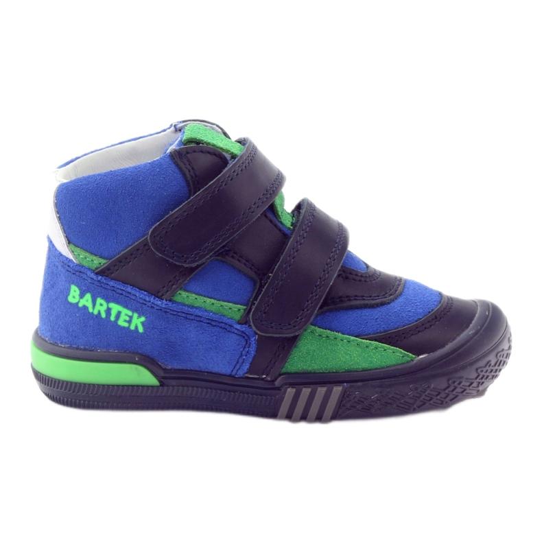 Pomegranate shoes Velcro Bartek 91756 multicolored blue green