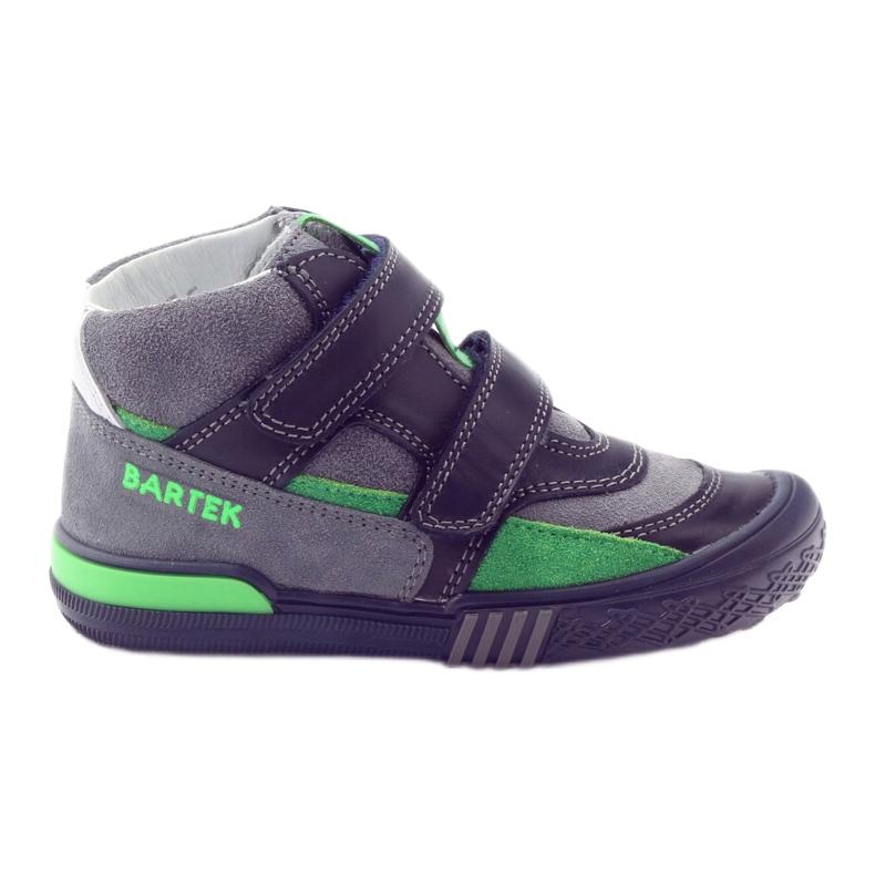 Boots gray-green velcro Bartek 91756 black multicolored grey