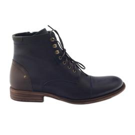 Men's winter boots Pilpol C831 navy blue