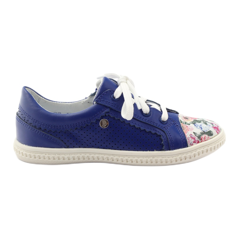 Girls' low shoes flowers Bartek 15524 white violet blue pink green