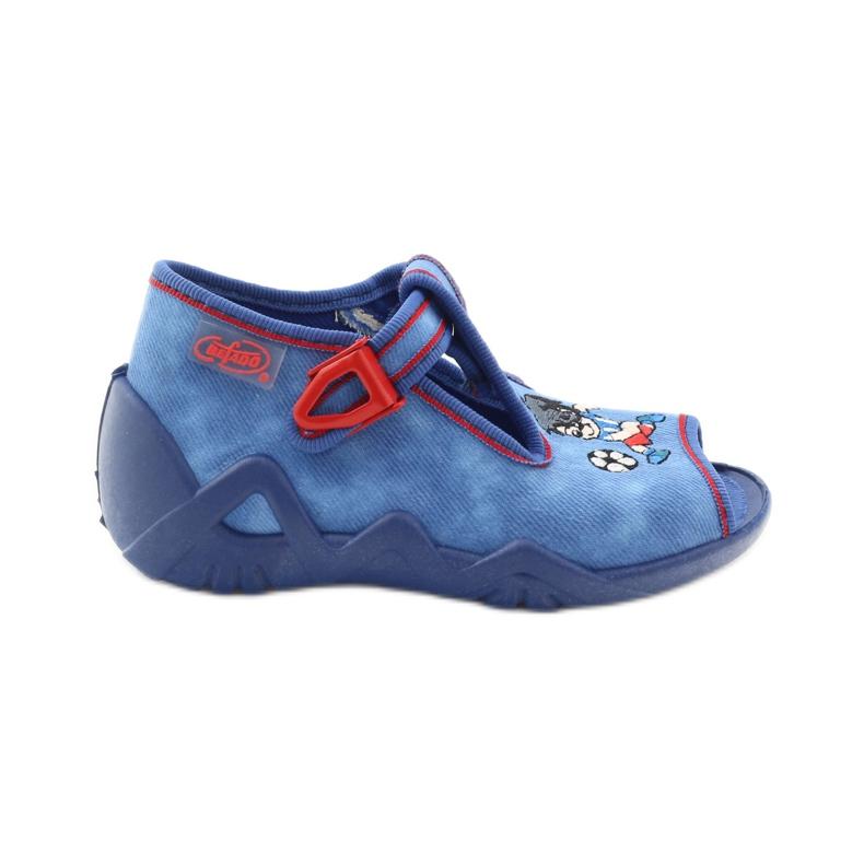 Slippers boy footballer Befado 217p088 red blue white