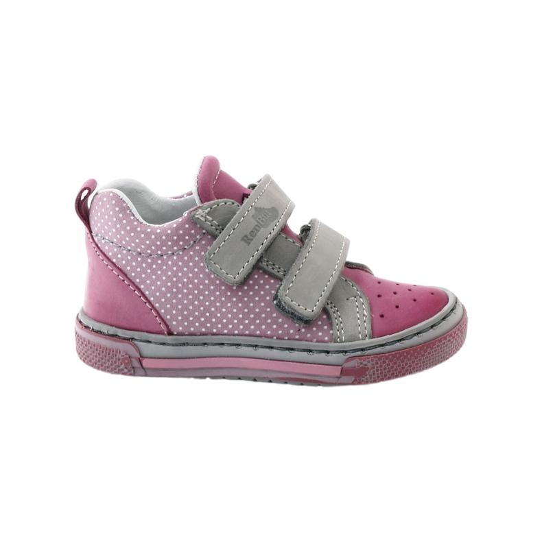 Girls' booties dots Ren But 1429 pink grey white