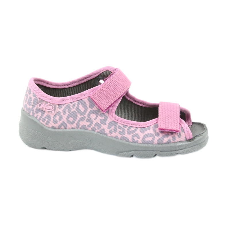 Befado children's shoes sandals slippers 969x092 pink grey