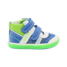 Boys' reflective shoes Bartek 81859 green blue white