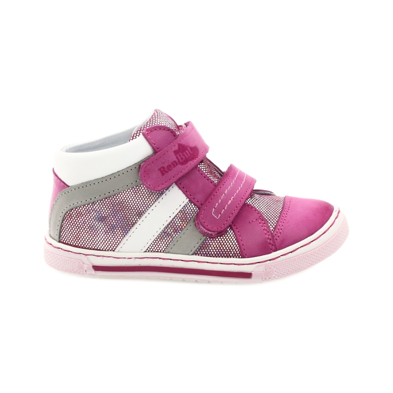 Girls' shoes Ren But 3225 pink pearl grey white