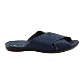 Men's slippers Adanex 20308 navy blue