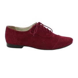 Women's leather oxford Angello burgundy