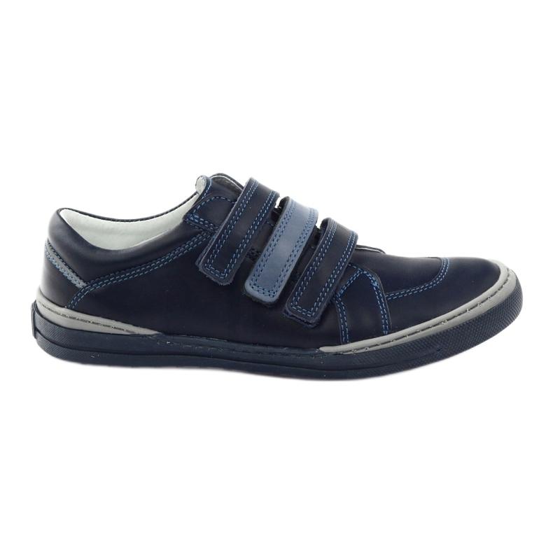 Boys' shoes, velcro Bartuś, navy blue multicolored