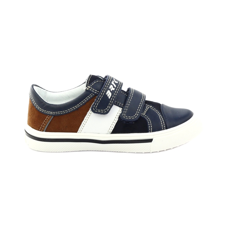 Boys' shoes Bartek 18607 navy blue multicolored brown white