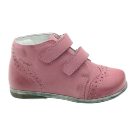 Pink Hugotti velcro leather shoes