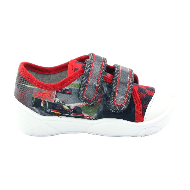 Befado children's shoes sneakers slippers 907p093 red grey
