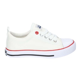 American Club White American LH25 Knotted Sneakers
