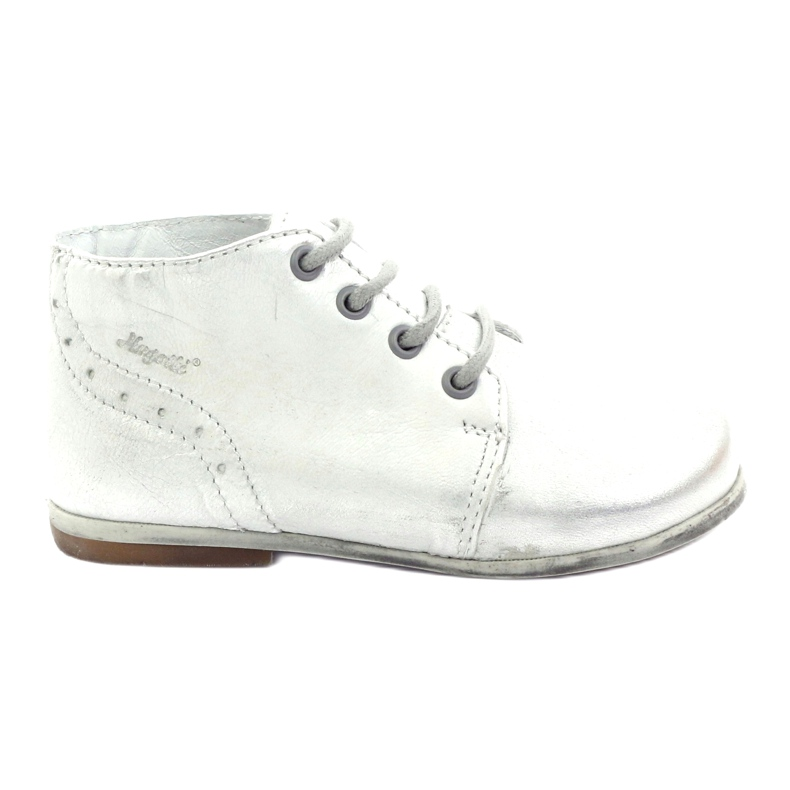 Silver Hugotti tied leather shoes grey