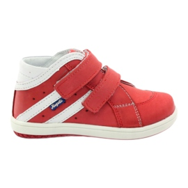 Boots leather Hugotti Velcro red white