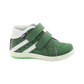 Leather shoes Hugotti green Velcro white