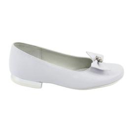 Pumps communion ballerinas white Miko 800