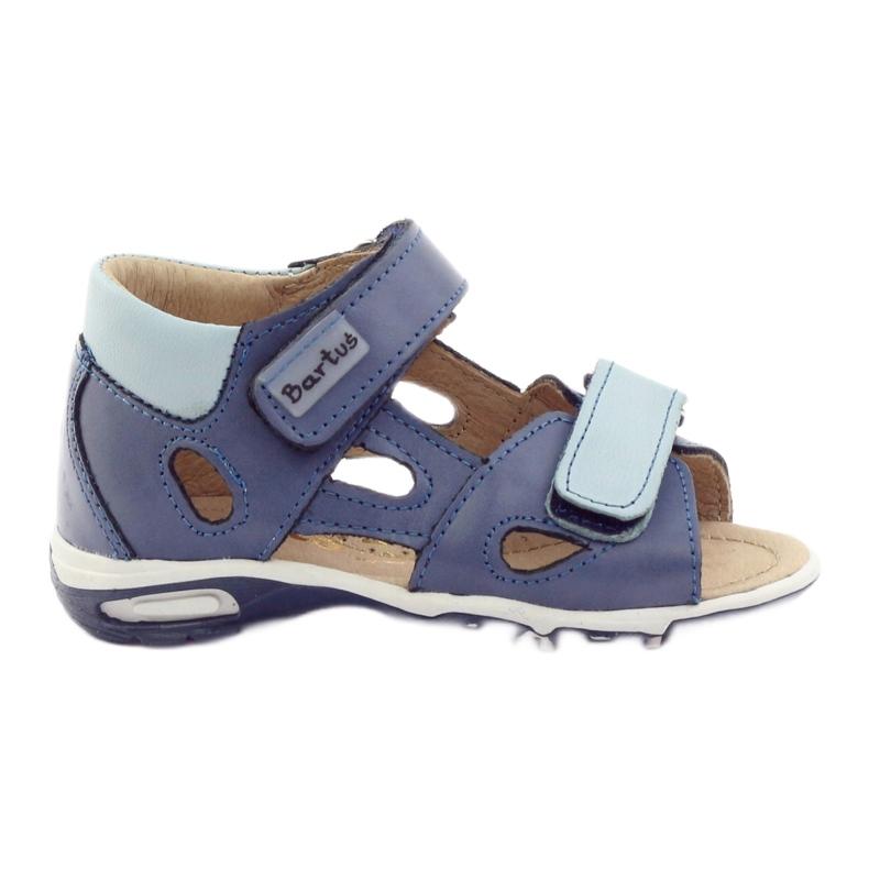 Boy's sandals, turnips Bartuś blue