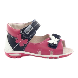 Girls' sandals - butterfly Bartuś pink