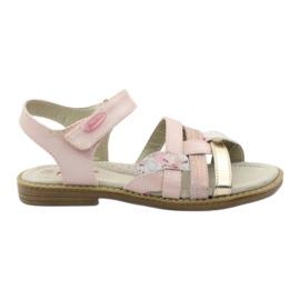 American Club Gladiator sandals, pink and gold