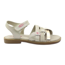 American Club Gladiator's sandals beige and gold