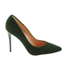 Espinto Pumps On A Green Stiletto
