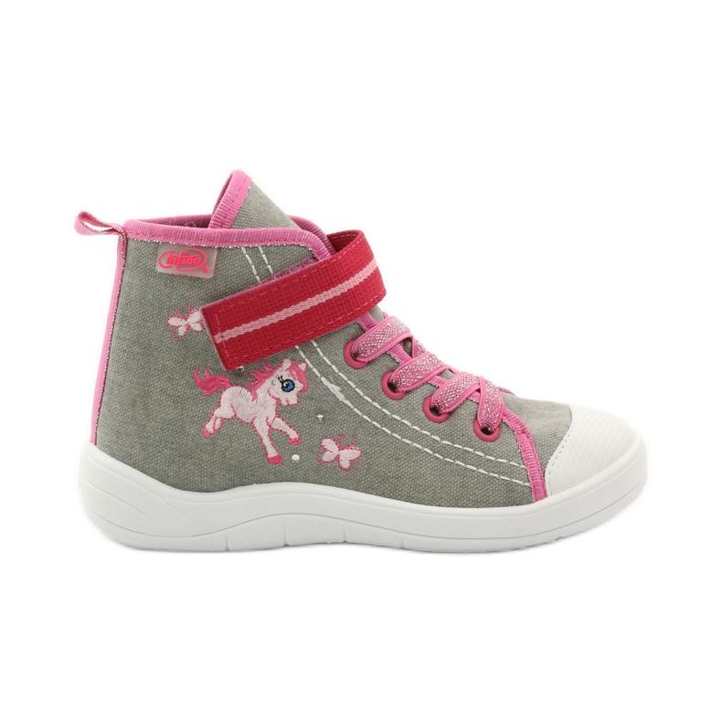 Sneakers slippers Befado konik 268x pink grey white