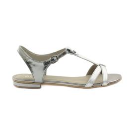 Grey Women's sandals EDEO wz.3087 silver