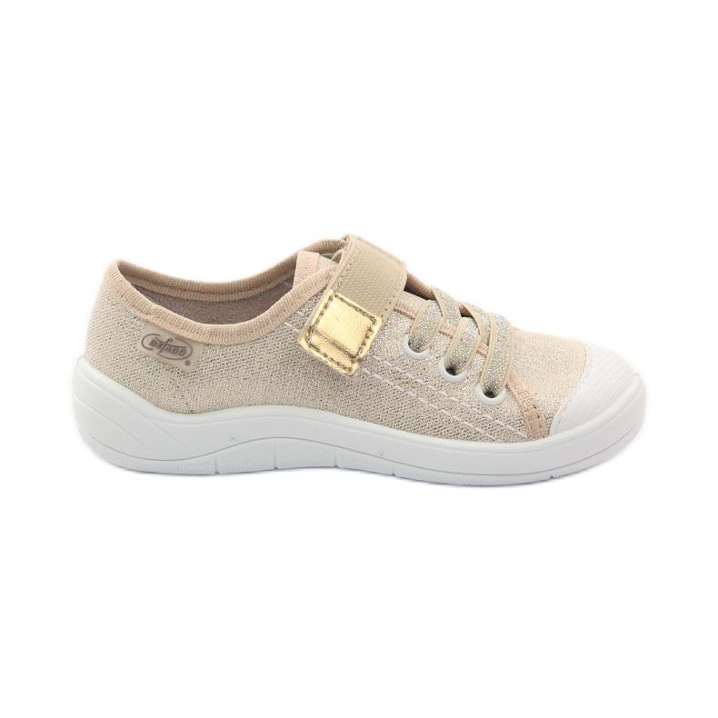 Slippers girls' sneakers Befado 251x071 gold yellow white
