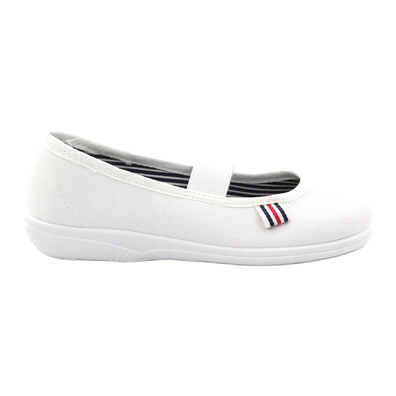 Girls' slippers Befado 274X013 white